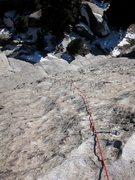 Rock Climbing Photo: Looking down La Cruz de la Norte on a mid December...