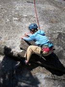 Rock Climbing Photo: Lowest slab to initial steepness.  Fun!