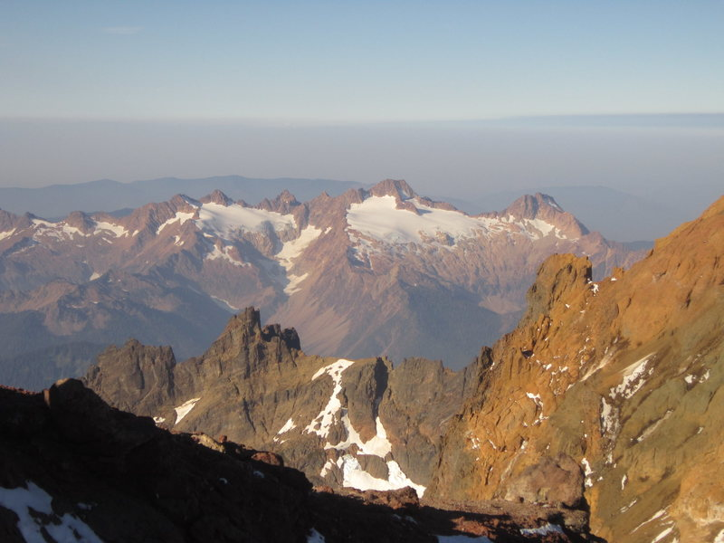 Rock Climbing Photo: The Twin Sisters range from the west flank of Mt. ...