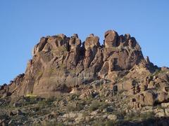 Rock Climbing Photo: Topo Overlay is P4, 5.6 var.