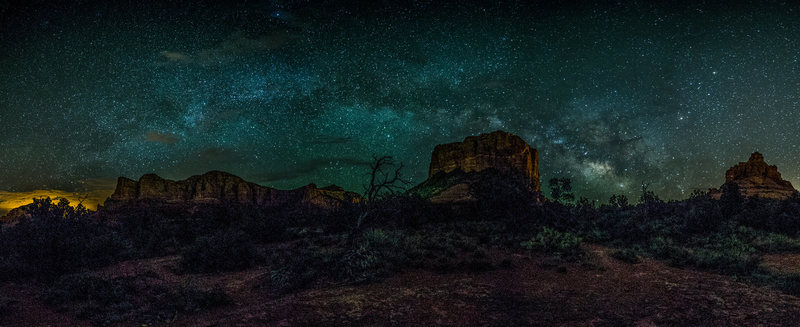 Panoramic Image of Bell Rock and Courthouse Butte