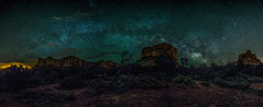 Rock Climbing Photo: Panoramic Image of Bell Rock and Courthouse Butte