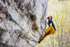 "Rock Climbing Photo: My friend chris working ""ping"" in LCC"