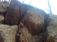 Rock Climbing Photo: Very fun right hand slot. . .   The roof crack on ...