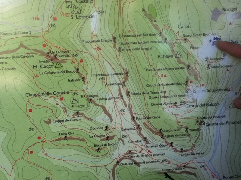 the map at the trailhead