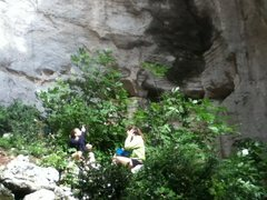 Rock Climbing Photo: the cave floor