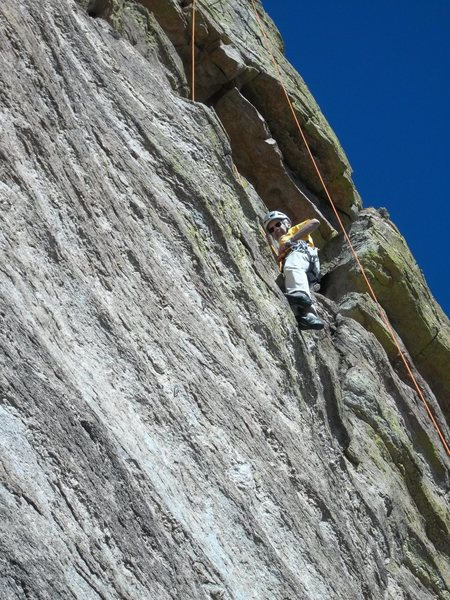 Rock Climbing Photo: Higher up on Ribbit Roof.