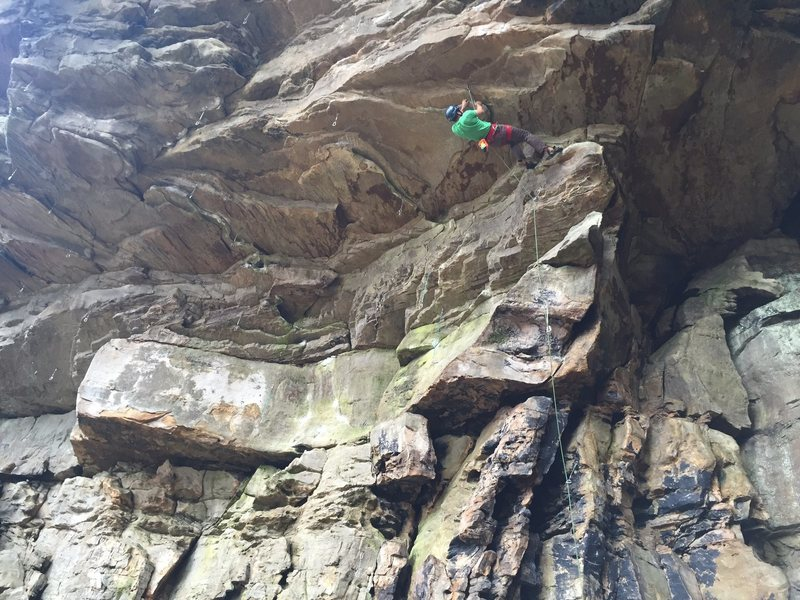 Getting into the first crux