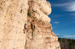 Rock Climbing Photo: Little D redpointing Gaucho