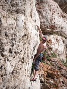 Rock Climbing Photo: Going for that Zorro redpoint, with the Swedes in ...