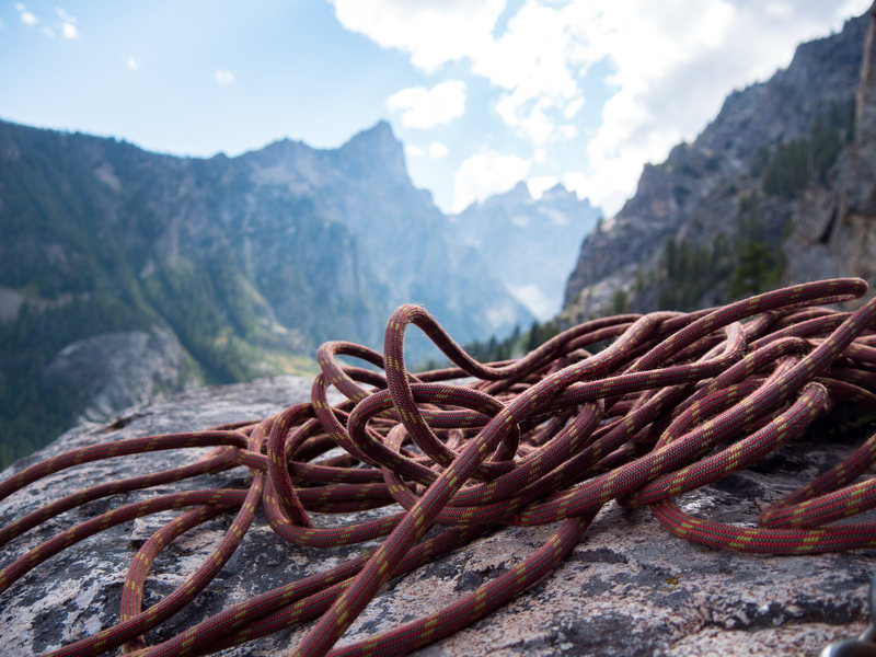 Rock Climbing Photo: Looking into Cascade Canyon from the top of No Per...
