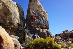 Rock Climbing Photo: moving from the second bolt