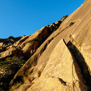 Rock Climbing Photo: Here I am starting the traverse across the Arching...