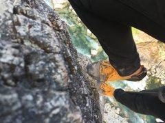 Rock Climbing Photo: Climbing over the river