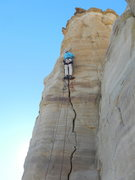 Rock Climbing Photo: Crusher taking over where the nailing begins