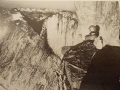 Rock Climbing Photo: Joe Meyers bivouacs on 1975 E Face attempt