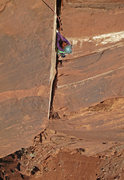 Rock Climbing Photo: Emily Reinsel butterflies up the wide part of the ...