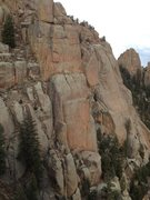 Rock Climbing Photo: Poe Buttress from the Sunshine Wall (Block Tower o...