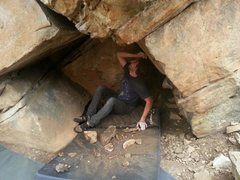 Rock Climbing Photo: Cleaning.