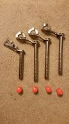 Rock Climbing Photo: Petzl 17mm screws, the BD on the left is sold