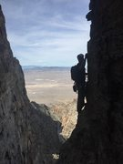 Rock Climbing Photo: Following the second traverse on western hardman