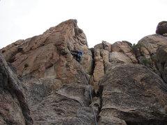 Rock Climbing Photo: Heading up knightline
