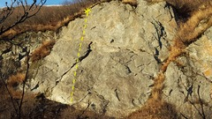 Rock Climbing Photo: This is one of the harder routes at the upper wall...