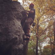 Rock Climbing Photo: Bouldering at Rumbling Bald
