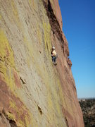 Rock Climbing Photo: Mike Schlauch on pitch 4.
