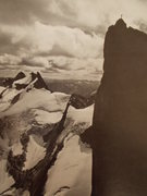Rock Climbing Photo: Jeff Boyd atop the Pulpit on FA taken from the Eas...