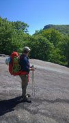 Rock Climbing Photo: Crossing the slabs on the bushwhack south...