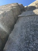 Rock Climbing Photo: Start of first pitch direct variation. Detailed be...