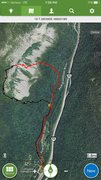 Rock Climbing Photo: Approach & descent from the south, better than the...