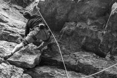 Rock Climbing Photo: Ryan Webster pulling the roof at the beginning of ...