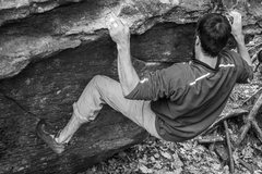 Rock Climbing Photo: Ryan Webster before the crux  Photo by Eileen Mora...