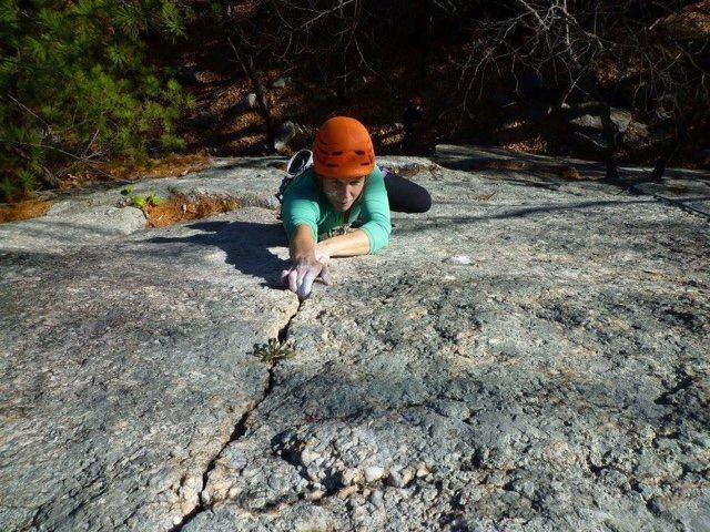 Rock Climbing Photo: Gory Thumb 5.9 PG13; Gunks; Trapps