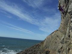 Rock Climbing Photo: Pam Ng climbing San Pedro Cliff Center