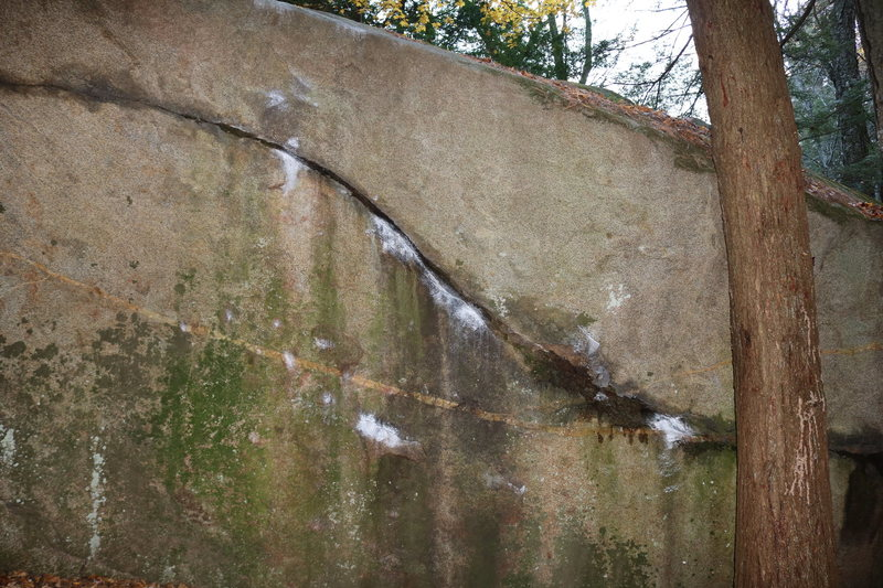 Rock Climbing Photo: Downward Spiral starting on the lower right and le...