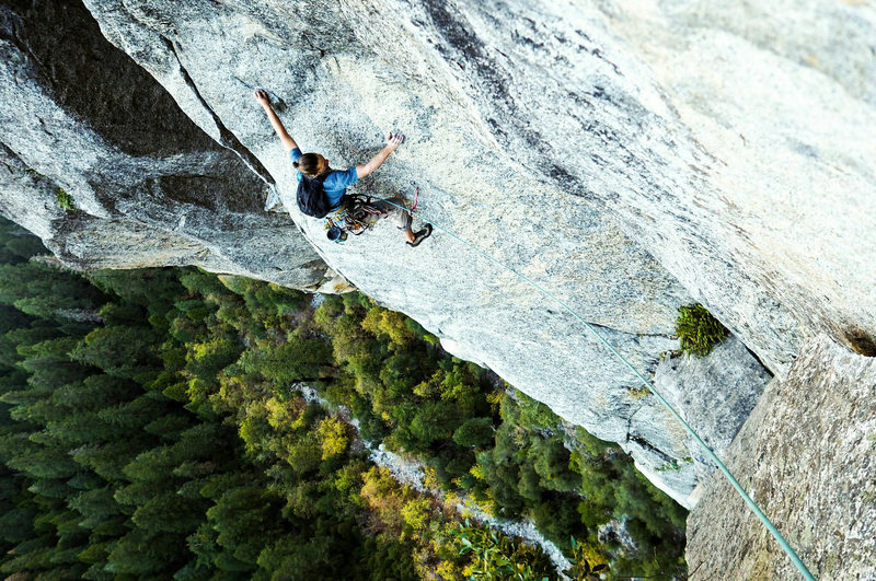 Rock Climbing Photo: The slab traverse, so much fun.