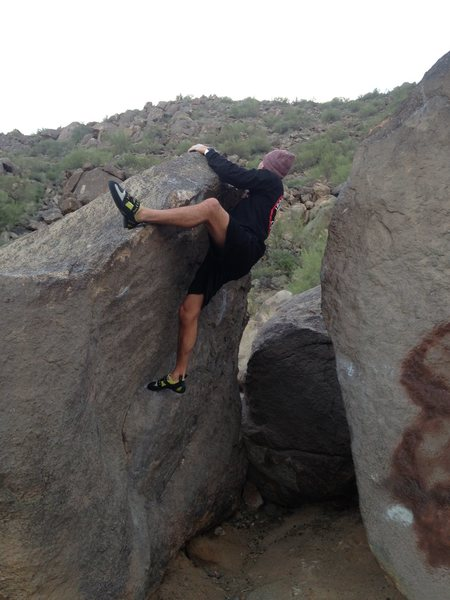Rock Climbing Photo: Big jug on the bottom and some crimpy holds