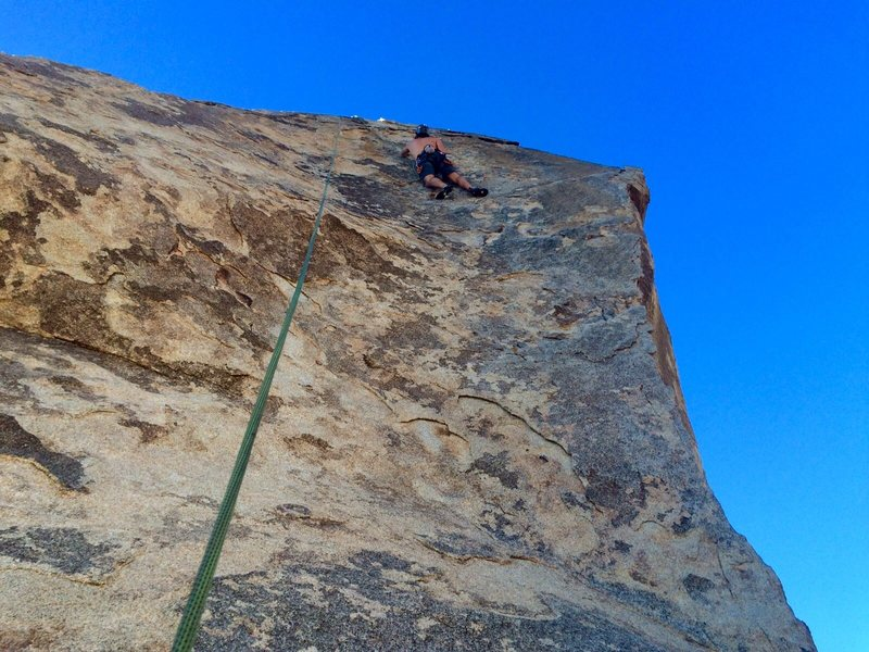 Toproping South Face Center 10/15. Photo credit: M. Hart.