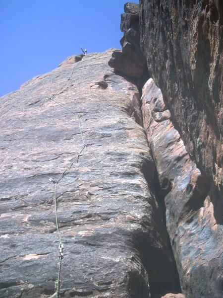 Arm and Hammer around 2010. The crux felt like it was between 4th and 5th bolt to me. Great climb if not just for the mental game/practice looking at how far the next bolt is. Bad ass, ground up FA.