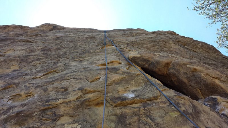 Los Angeles Basin - Stoney Point - Beethoven's Wall - Beethoven's Crack : Top Rope Setup, Wall looking up