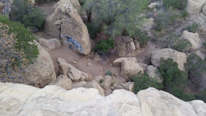 Los Angeles Basin - Stoney Point - Beethoven's Wall - Top Rope Anchor Edge