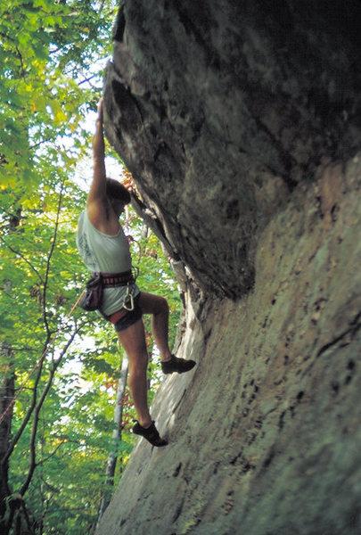 Rock Climbing Photo: Climber on Fat Cow.