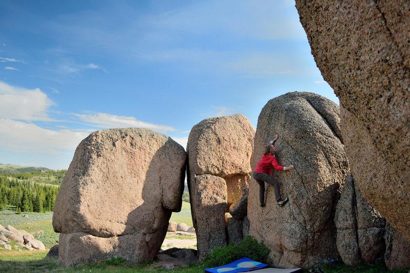 Rock Climbing Photo: Jacey on Purple Nurple