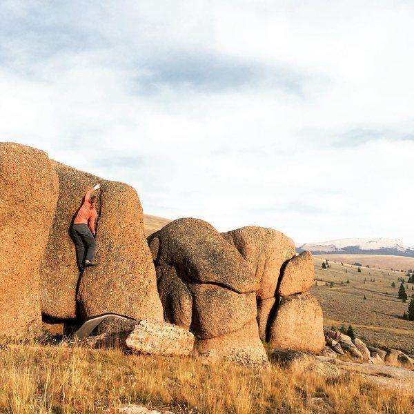 Rock Climbing Photo: Wonderful little crack problem