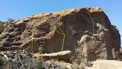 Rock Climbing Photo: Los Angeles Basin - Santa Monica Mountains - Malib...