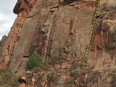Rock Climbing Photo: The route continues up out of the frame for roughl...