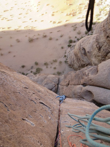 Rock Climbing Photo: This is a route called Merlin's Wand out at Barrah...
